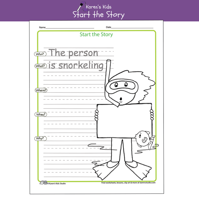 Free Start the Story Worksheet Sample