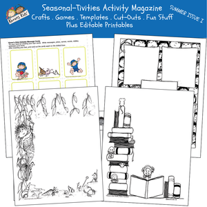 ACTIVITY PRINTABLES for Summer Issue I (Karen's Kids Print and Use)