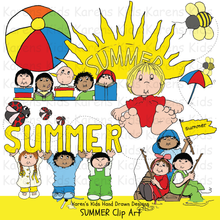 Load image into Gallery viewer, Clip Art Summer and Kids
