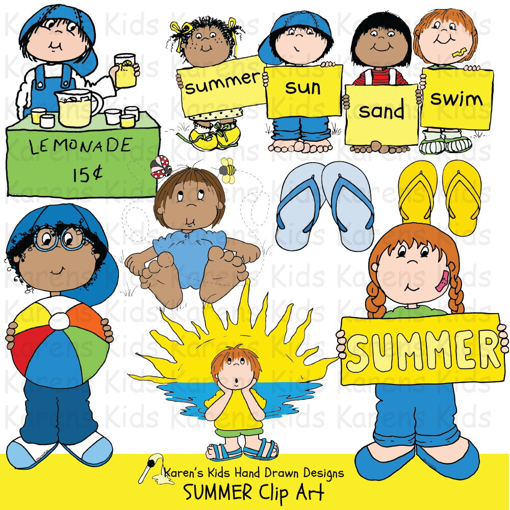 Clip Art Summer and Kids