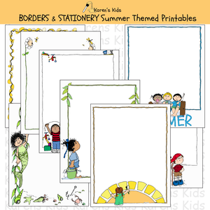 BORDERS Summer Borders and Stationery Editable Printables
