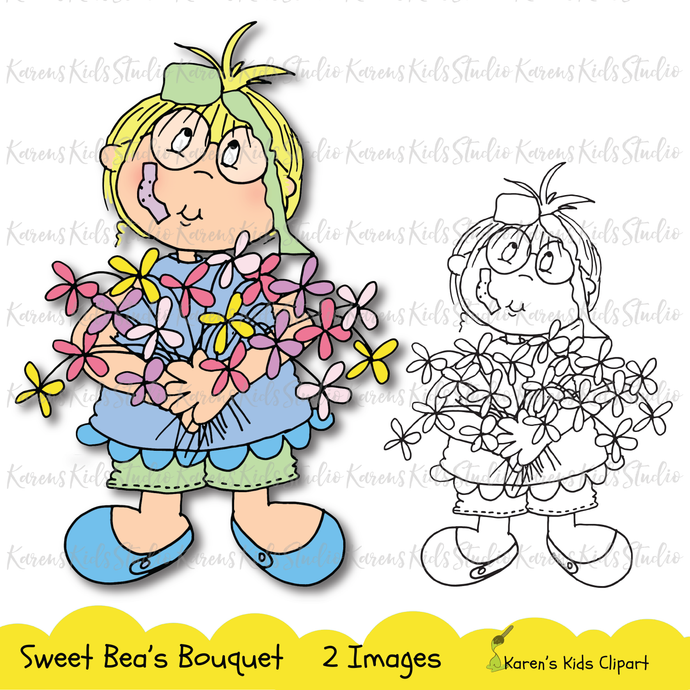 Digital Stamp - Sweet Bea's Bouquet