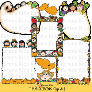 Thanksgiving borders in full color