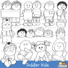 Load image into Gallery viewer, CLIP ART TODDLER KIDS (New Product Introductory Sale)