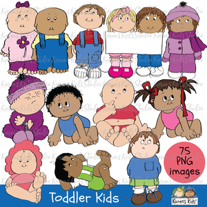 CLIP ART TODDLER KIDS (New Product Introductory Sale)