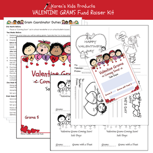 Fundraiser Kit VALENTINE GRAMS Editable Printable