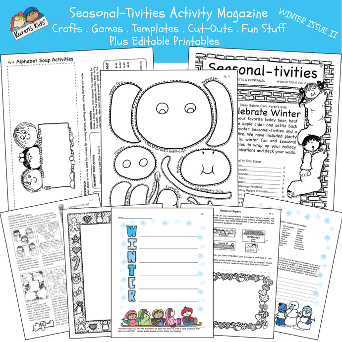 ACTIVITY KITS Seasonal_Tivities Winter Issue II Printables