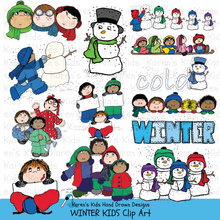 Load image into Gallery viewer, Clip Art Winter Kids