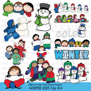 Clip Art Winter Kids