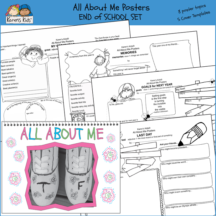 All About Me personal poster printables