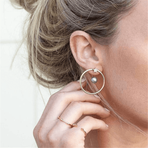 Women's Simple Five-Pointed Star Ring Alloy Earrings