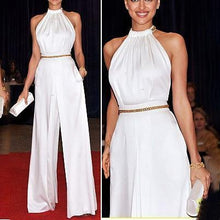 Load image into Gallery viewer, Fashion White Elegant Strapless Jumpsuit