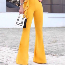 Load image into Gallery viewer, Sexy Off-Shoulder V Neck Ruffled Pure Colour Jumpsuit