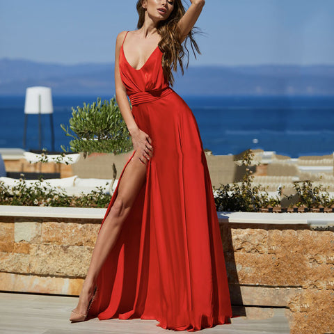 Sexy Elegant Sleeveless Maxi Evening Dress