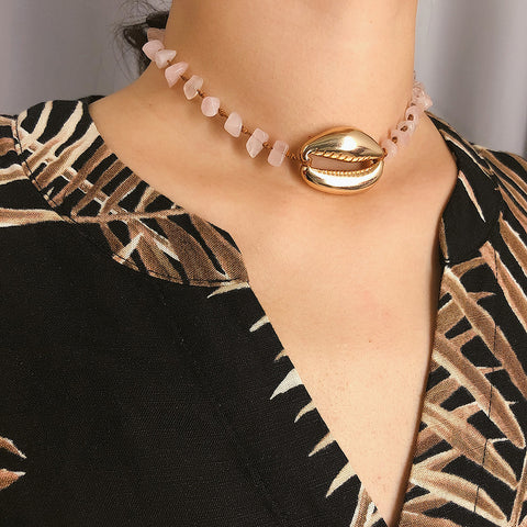 Ethnic Style Contracted Creative Big Shell Necklace