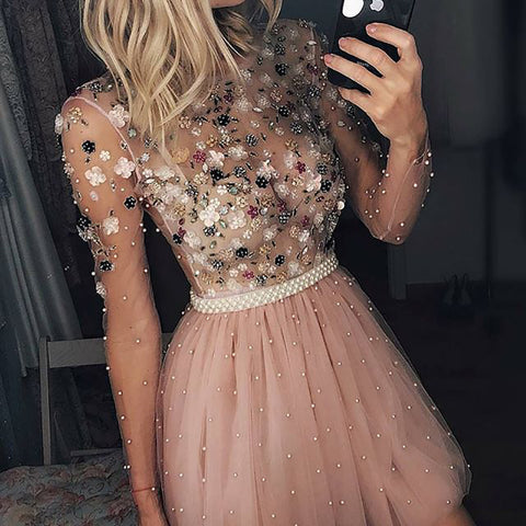 Womens Sexy Sequin See-through Dress