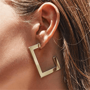 Women's simple irregular geometric alloy earrings