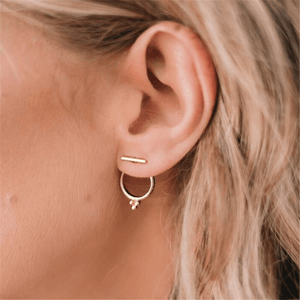 Women's Simple Alloy Ring Earrings