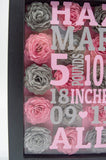 Birth Stat Shadow Box 8x8