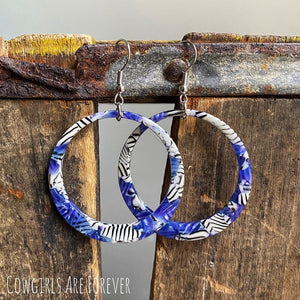 Support | Blue Acrylic Hoops