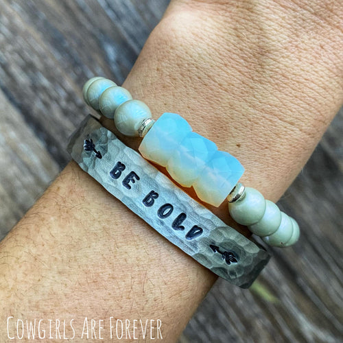 Be Bold | Hand Stamped Cuff Bracelet