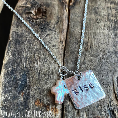 Rise | Hand Stamped Necklace