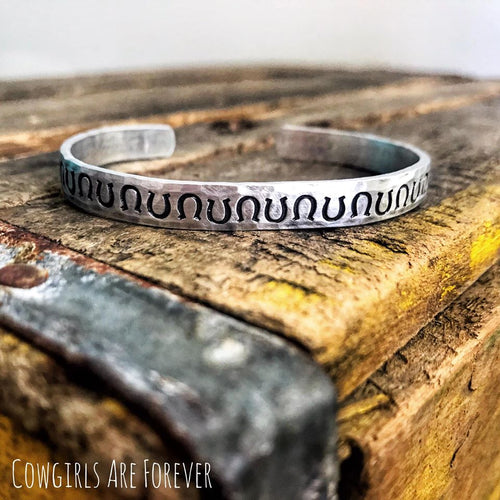 Horseshoe Crazy |Hand-stamped Cuff Bracelet