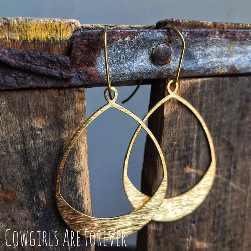 Brushed N' Brassy | Brass Hoop Earrings