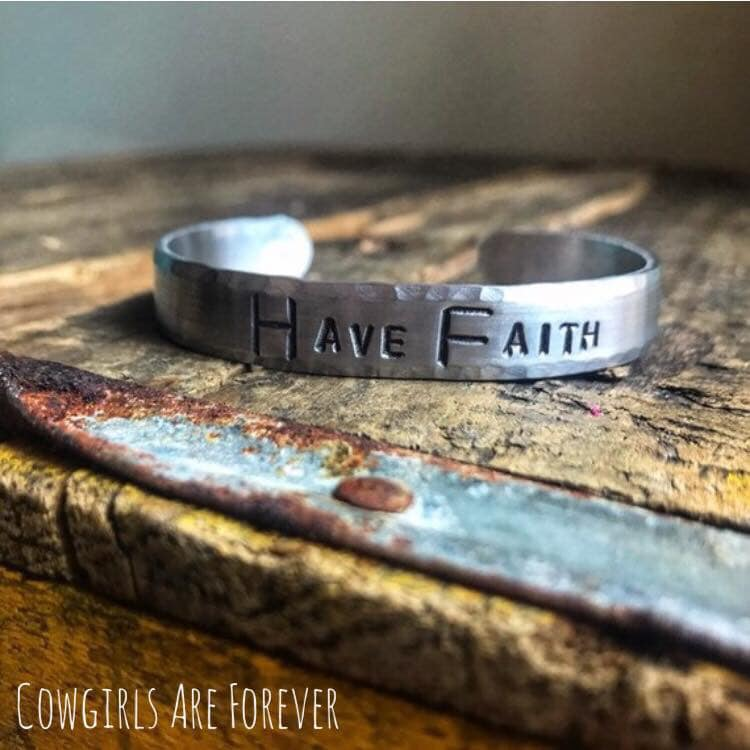 Have Faith | Hand Stamped Cuff Bracelet