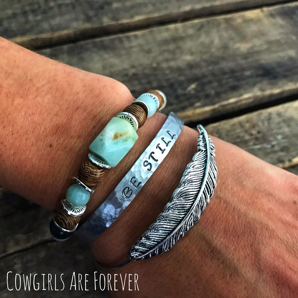 Be Still | Hand-stamped Cuff Bracelet