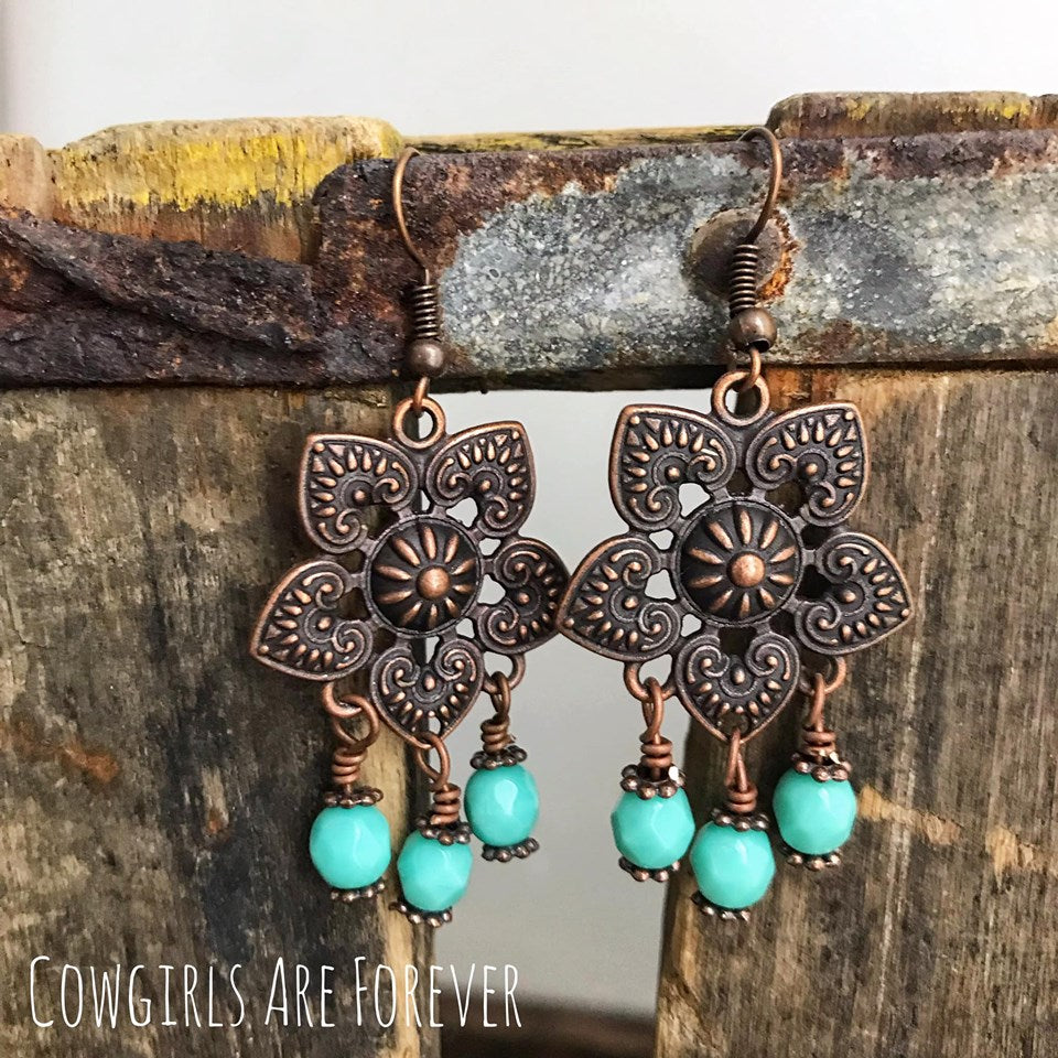 Dangle | Copper and Turquoise Earrings