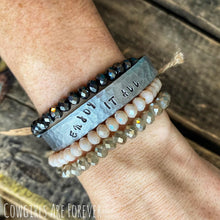 Load image into Gallery viewer, Enjoy It All | Hand Stamped Cuff Bracelet