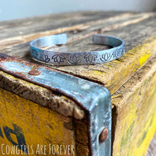 Load image into Gallery viewer, Flourish| Hand Stamped Cuff