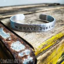 Load image into Gallery viewer, Brave Soul | Hand Stamped Cuff Bracelet