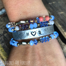 Load image into Gallery viewer, Sweetheart | Custom Hand Stamped Initial Cuff