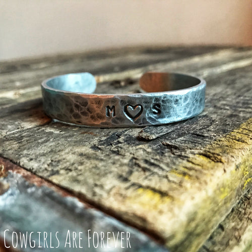 Sweetheart | Custom Hand Stamped Initial Cuff