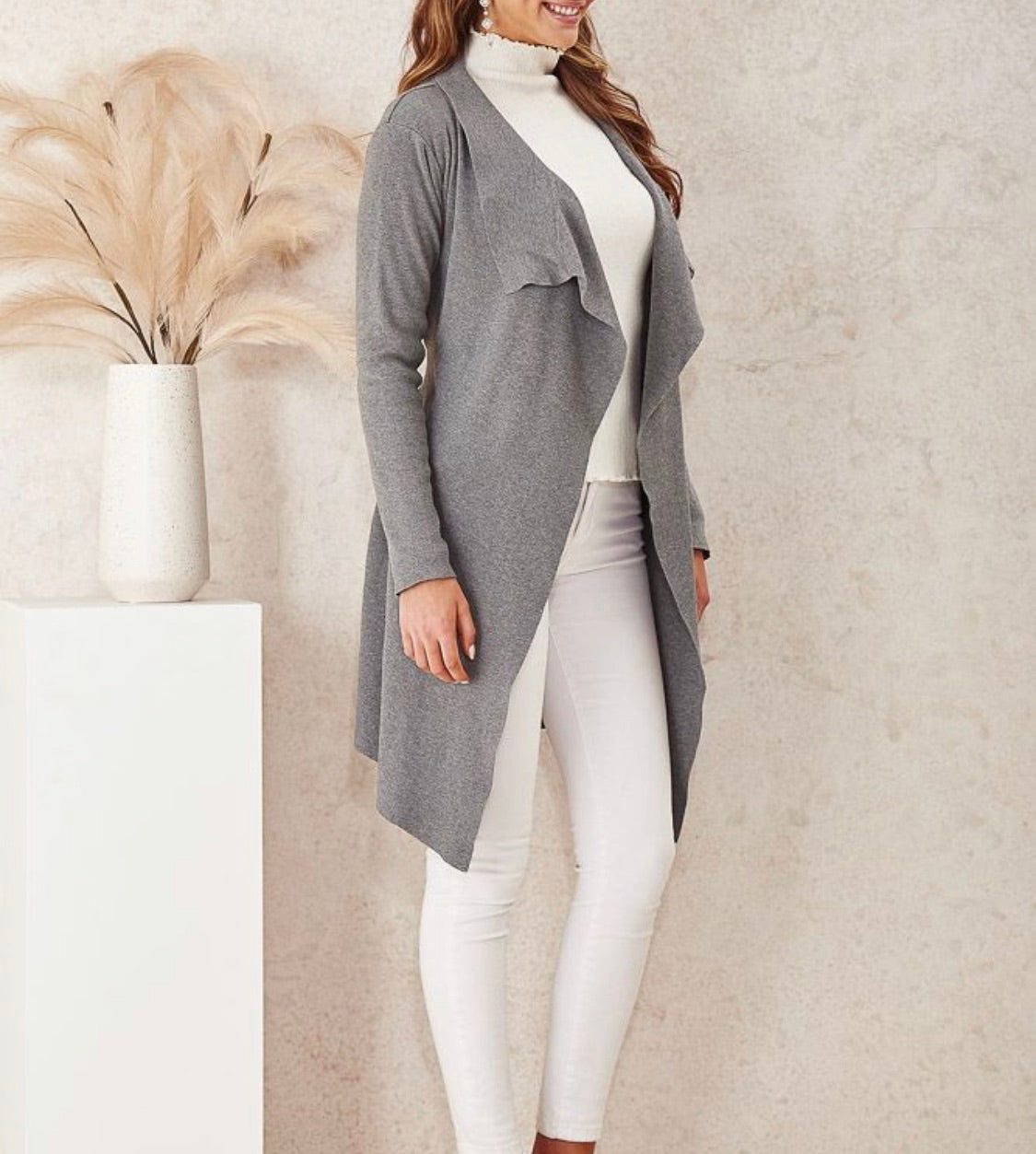 Grey Cardigan By Miracle