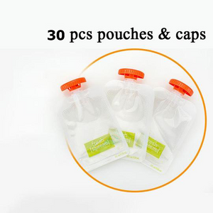 Baby Food Squeeze Station Refill Pouches Storage Containers