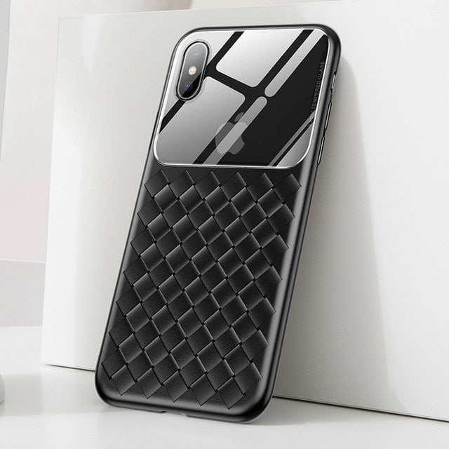 Luxury Lens Glass Case For iPhone X XS MAX XR