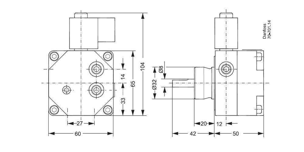 071N7129 Oil Pump Dimensions