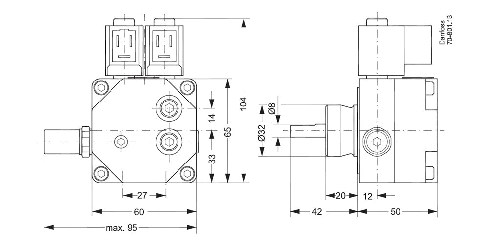 071N3202 Oil Pump Dimensions