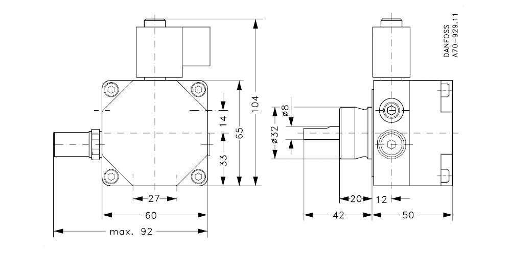 071N7141 Oil Pump Dimensions