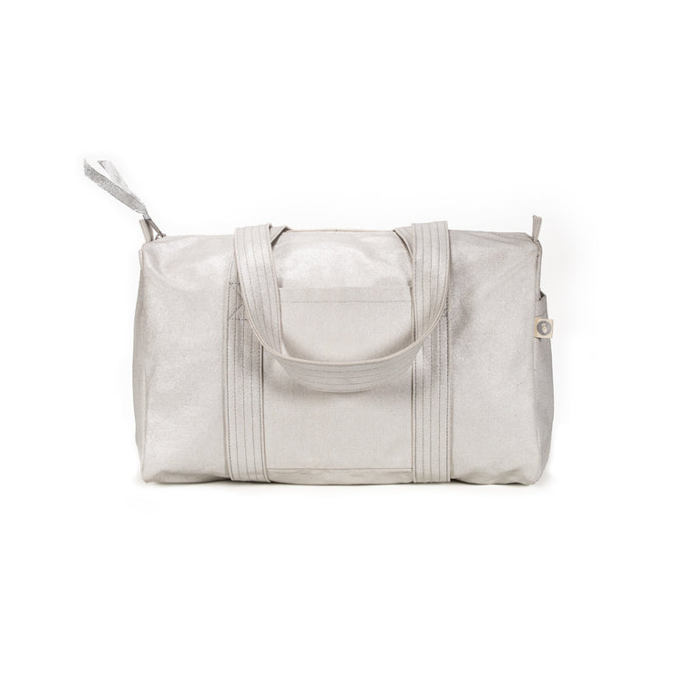 Small Duffel: White Metallic