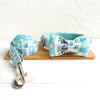 LIGHT BLUE ETHNIC PATTERN - Collar and Leash Set