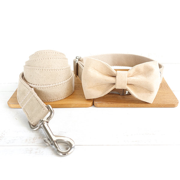 BEIGE COLOR - Collar and Leash Set