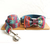 BLUE ETHNIC PATTERN - Collar and Leash Set