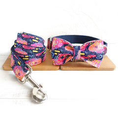 DARK GRAFFITI - Collar and Leash Set