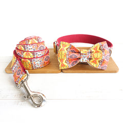 RED BOHEMIAN - Collar and Leash Set