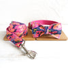 PINK GRAFFITI - Collar and Leash Set