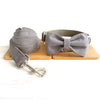 DEEP GRAY - Collar and Leash Set